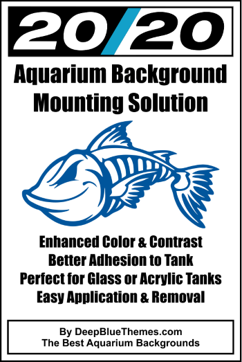 20/20 Aquarium Background Mounting Solution Label