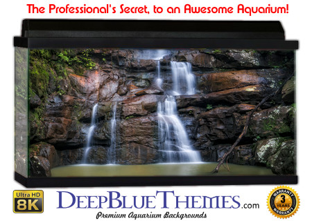Buy Aquarium Background Awesome Waterfall Aquarium Background