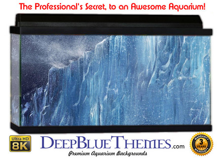 Buy Aquarium Background Ice Cliff Aquarium Background