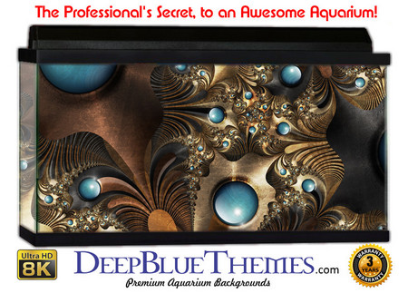 Buy Aquarium Background Jfractal Gold Aquarium Background