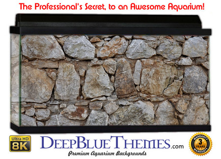 Buy Aquarium Background Rock Medieval Aquarium Background