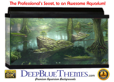 Buy Aquarium Background Swamp Drawn Aquarium Background